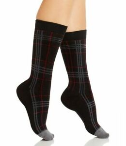 Hue Women's Socks Color Black Plaid One Size USA