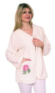 Luxury 100% Cotton Chenille Bed Unique Jacket Housecoat Nightwear Gown Robe
