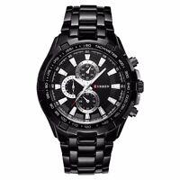 Curren Men's Stainless Steel Luxury Military Sports Analog Quartz Wrist Watches