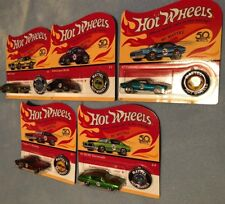 Hot Wheels 50th Anniversary Redline Replicas 5 Car Set - Unpunched Cards