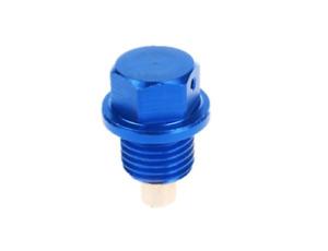 UKNEST M14*1.5 Metal Anodized Magnetic Engine Oil Drain Bolt Plug Blue