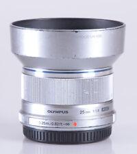 Olympus M.Zuiko Digital 25mm f/1.8 Lens (Silver)