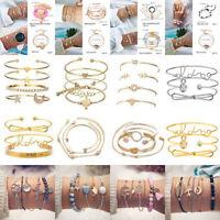 Lot Pcs Set Women Bracelet Adjustable Bangle Chain BOHO Party Jewelry Chic Gifts