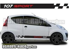 Peugeot 107 012 side racing stripes graphics stickers decals vinyl sport