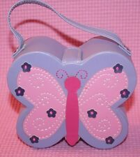 rM- Jewelry Butterfly Box Purse Purple And Pink 5 Inches Wide Handle So Cute