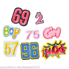 8PCs/Set Mixed Number Letter Cotton Patch Iron On Garment Accessories DIY