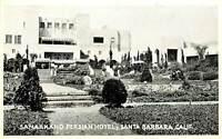 White Border Postcard CA D794 Samarkand Persian Hotel Santa Barbara Art Deco