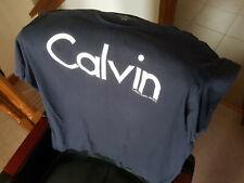 Calvin Klein Navy Logo T Shirt Good Used Condition Size XL/XXL