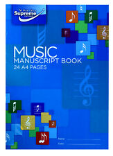Music Manuscript Book Writing Music Theory Note Song 12 Staves Piano - 24 Pages
