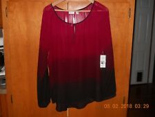 Kim Rogers Ombre colored blouse size large