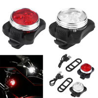 2PCS USB Rechargeable LED Bicycle Bike Front & Rear Tail Light Set Safety Lamp t