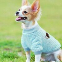 Embroidery Pet Warmer Jumper Knit Chihuahua Cat Sweater Clothes Puppy Winter Dog