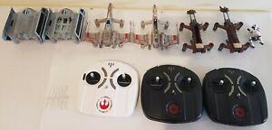 6 LOT Propel Star Wars T-65 X-Wing TIE X1 74-Z Bike Drone Remote Parts AS IS