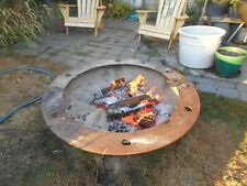 41 1/2 inch Heavy steel fire pit with 48 inch steel ring.