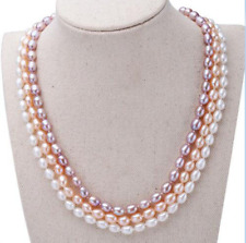 Natural 6-7mm pearl necklace and 925 silver pearl jewelry JN1509