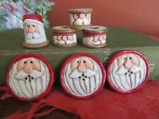 Midwest of Cannon Falls Eddie Walker Christmas Santa Buttons, Thimble and Spools