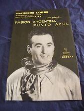 Partitura Punto de Argentina Azul de Bernardo Lopez 1964