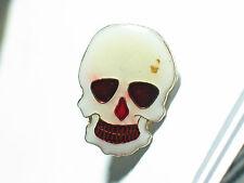Skull Pin , Skull White with Red Eyes , Motorcycle skull Pin *(*)