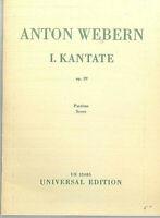 Taschenpartitur Anton Webern :1. Kantate Op. 29