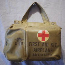 VIETNAM WAR AIRPLANE MEDICAL FIRST AID KIT BAG + FULL CONTENTS ORIGINAL US ARMY