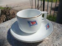 Vintage Fuji Trading Co Japan Coffee Tea China Cup Saucer Steamship Ship Ware