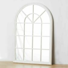 French Hampton Style Gallery Arch Wall Window Mirror Provincial WHITE 130x70CM