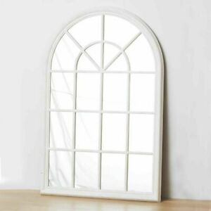 French Hampton Style Gallery Arch Wall Window Mirror Provincial WHITE