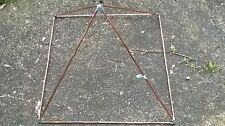 SOLID Copper Pyramid Frame. - LARGE.     for  MEDITATION AND LIFE ENHANCEMENT.