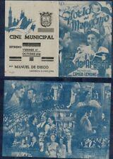 Año 1941. Programa publicitario de CINE DOBLE. Título: GLORIA DEL MONCAYO.