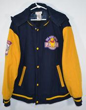 Disney Winnie the Pooh Varsity Jacket Detachable Hood Wool/Rayon Adult Sz Large
