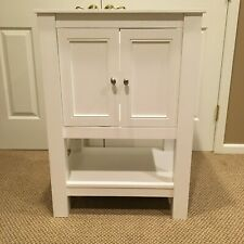 "24"" White Bathroom Vanity 24 wide-18 deep- 34 high."