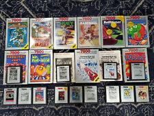 ATARI 7800 Video Game Lot Collection 19 Cartridges Pac Man Robotron Dig Dug New
