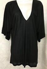Kiki De Montparnasse Black V-Neck T-Shirt Cover-Up Nwt Size XS