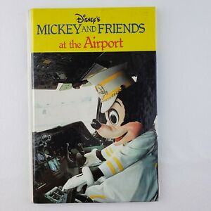 Disneys Mickey And Friends At The Airport- HTF- Small Hardcover Book- 1980