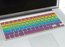 NWT Mac Book Air & Mac Book Pro 13 & 15 Inch Rainbow Keyboard Cover Hippy Anthro