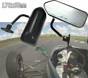 F1 Style Black ABS Racing side mirror Evo 5 8 Impreza WRX sti Legacy Forester