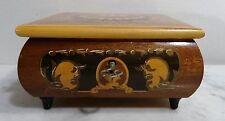 Ältere dekorative Holz Kassette Schatulle Schmuckschatulle Utensilienbox ~ 50er