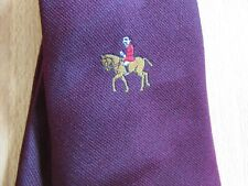 Huntsman with Red Jacket on Horseback Hunt Interest Tie by Tootal