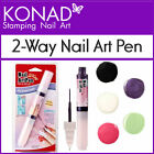 Konad 2-Way Nail Art Pen with striper brush & Pen tip applicator Liner