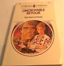 Book in French L'INCROYABLE RETOUR Livre en Francais Collection HARLEQUIN