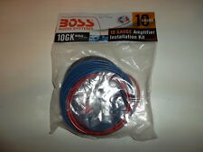 Boss 10 Gauge-Red Power Cable And More(FAST FREE SHIP)Amp Installation Kit