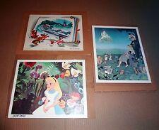 3 Disney Fan Cards 1 Alice In Wonderland Signed Marc Davis, 2 Cinderella Cards