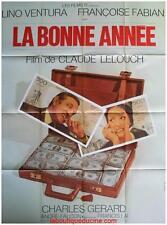 LA BONNE ANNEE Affiche Cinéma / Movie Poster CLAUDE LELOUCH LINO VENTURA