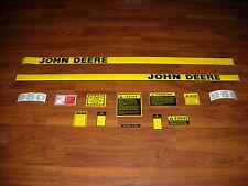 John Deere 950 tractor decal set with caution decals hood