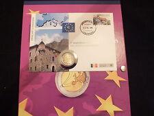 2 EURO NUMISBRIEF  ANDORRA 2015+ SAMMELALBUM FÜR BIS ZU14 NUMISBRIEFE SELTEN RAR