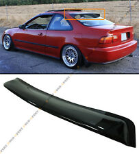 FOR 1992-95 HONDA CIVIC 2DR COUPE BLK SMOKE REAR ROOF WINDOW VISOR WING SPOILER