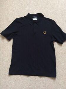 Fred Perry Mens Miles Kane Black Polo Shirt Size Medium