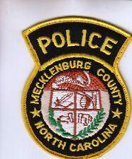 MECKLENBURG COUNTY POLICE (OLDER) NORTH CAROLINA NC PATCH