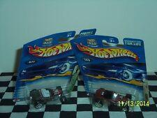 Hot Wheels: Flying Aces Ii & Hot Rod, Deuce Roadsters 2 cars variations 1/64