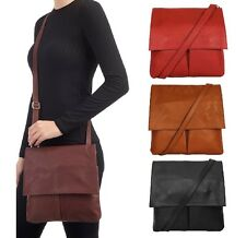 Ladies Handbag Italian Leather Vera Pelle Womens Cross Body Messenger Bag